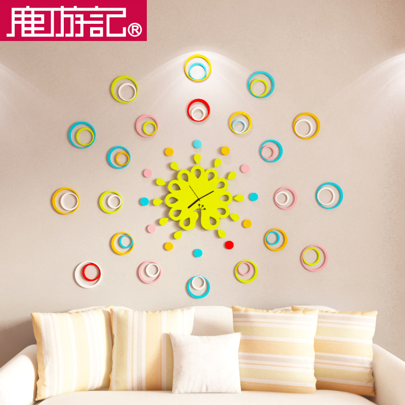 wall stickers TV bedroom warm background wall decoration creative ...