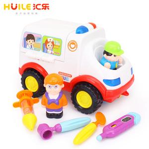 汇乐玩具836电动救护车儿童模拟医生打针女孩过家家玩具7-18个月