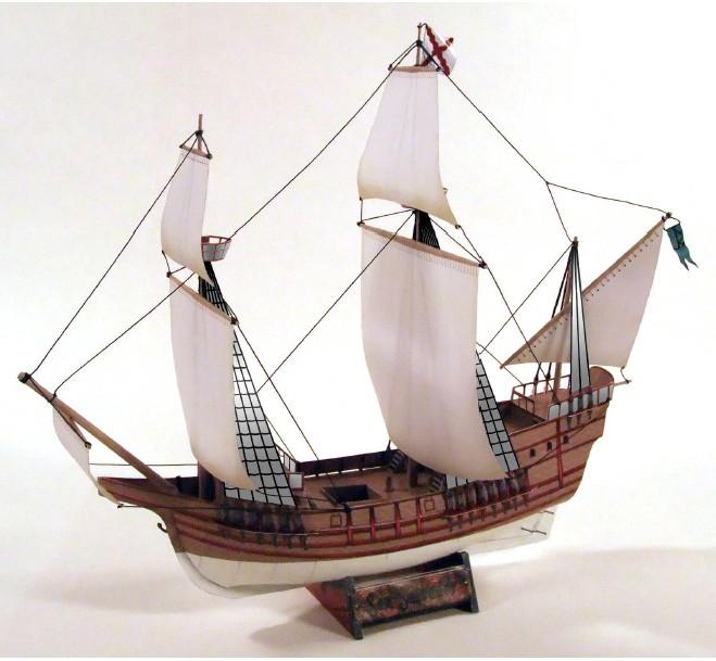 立体折纸手工制作模型剪纸 仿真古典帆船 古代欧洲船模 3d纸模