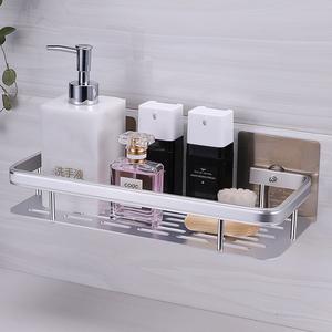 免打孔卫生间加厚太空铝浴室置物架浴巾架厨房壁挂式多功能收纳架