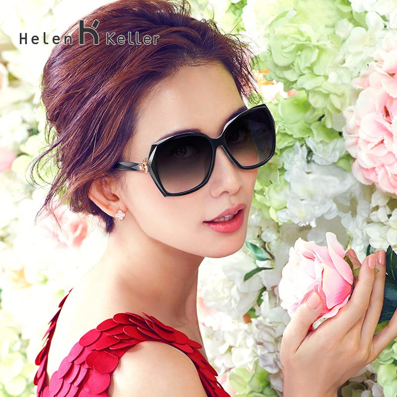 海伦凯勒太阳镜女潮偏光 方框时尚女士眼镜 明星同款墨镜 H8512