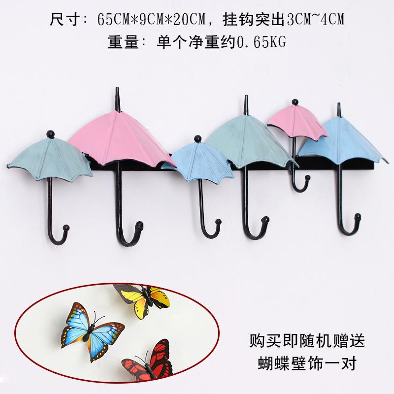 Цвет: Порошок синий кованого железа зонтик крючком