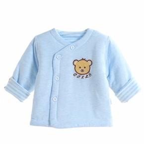 新生婴儿保暖内衣单件上衣纯棉加厚秋冬男女宝宝夹棉内衣保暖上衣