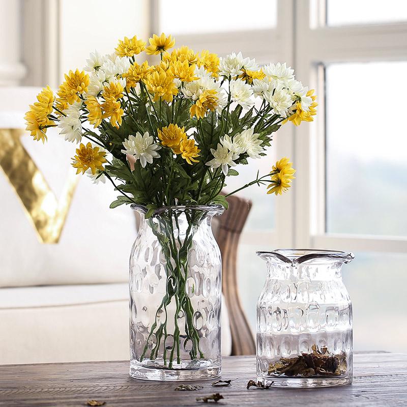 米子家居现代简约透明玻璃小花瓶
