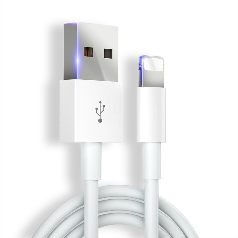 iPhone6数据线苹果6s充电线器5s手机7Plus加长快充se单头8X短iphonex冲电P平板电脑适用ipad古尚