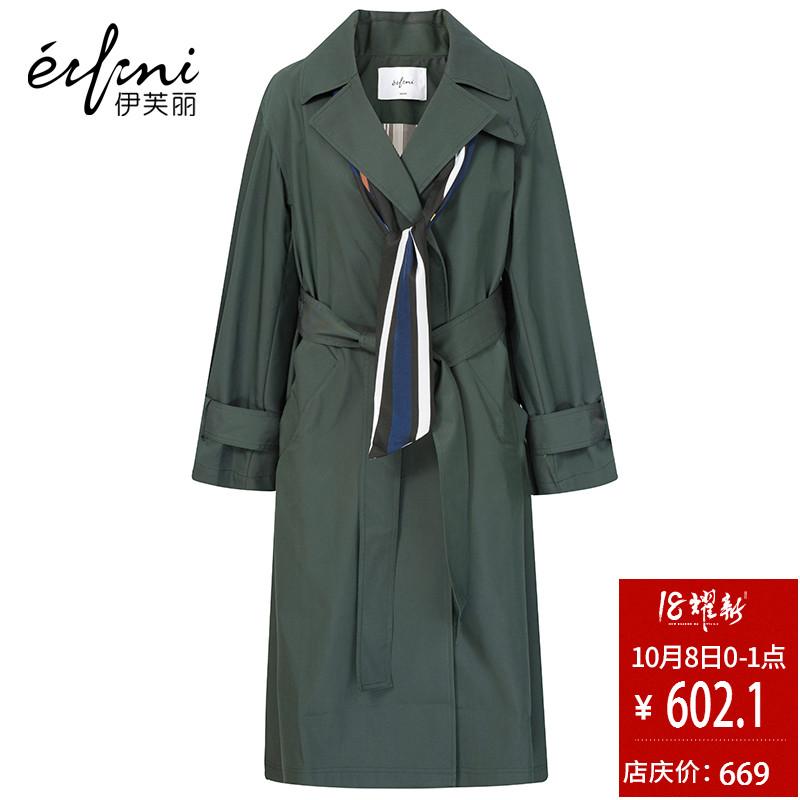 爱的进化论同款 伊芙丽冬装新款韩版蝙蝠型外套宽松中长款风衣女