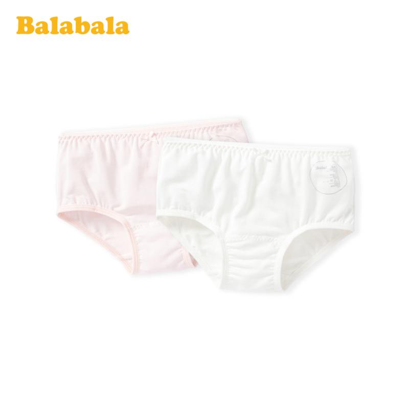 巴拉巴拉女童内裤棉三角小女孩短裤儿童三角底裤中大童透气两条装