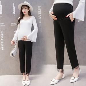 实拍孕妇裤新款春季外穿时尚百搭宽松潮妈休闲托腹裤子孕妇长裤
