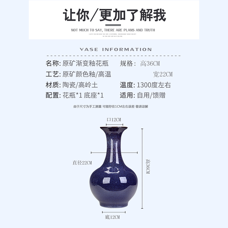 Large ceramics vase furnishing articles of Chinese style living room table household act the role ofing is tasted creative flower arranging contracted bottles of jingdezhen