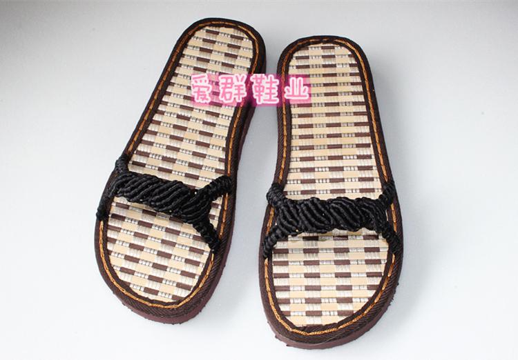 特价款 中国结线手工编织夏季男女拖鞋 贝壳款 成品
