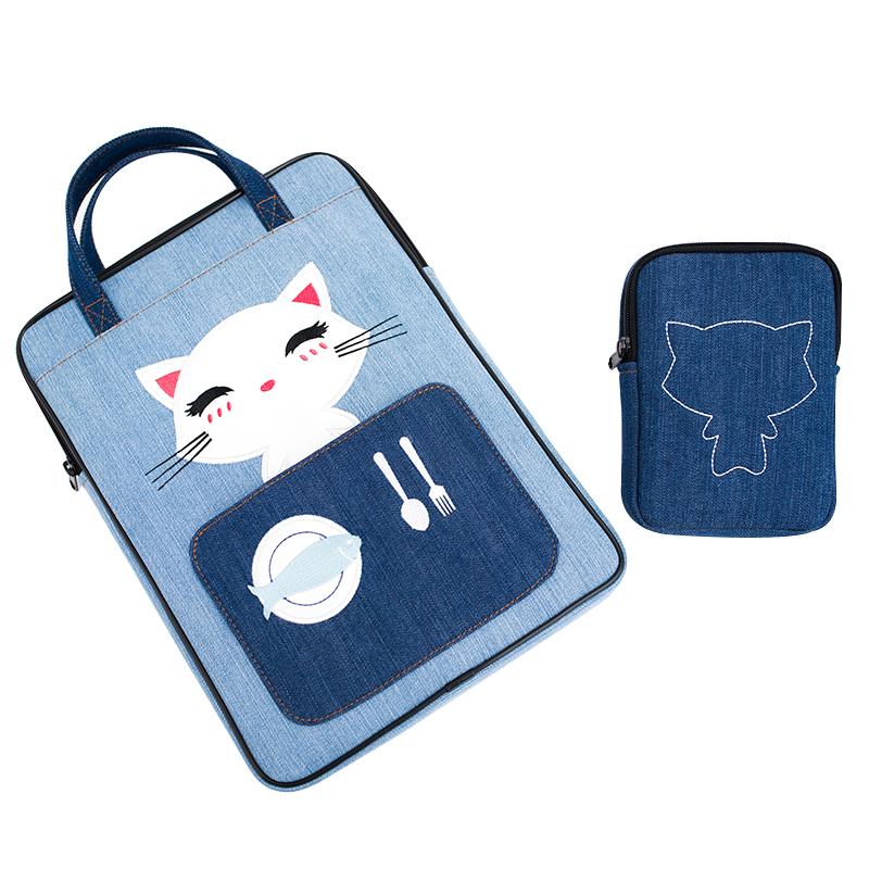 手提电脑包苹果戴尔联想可爱卡通含电源包时尚超薄女士生品牌