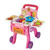 伟易达厨房购物车玩具女孩儿童迷你仿厨具套装娃娃过家家推车礼物