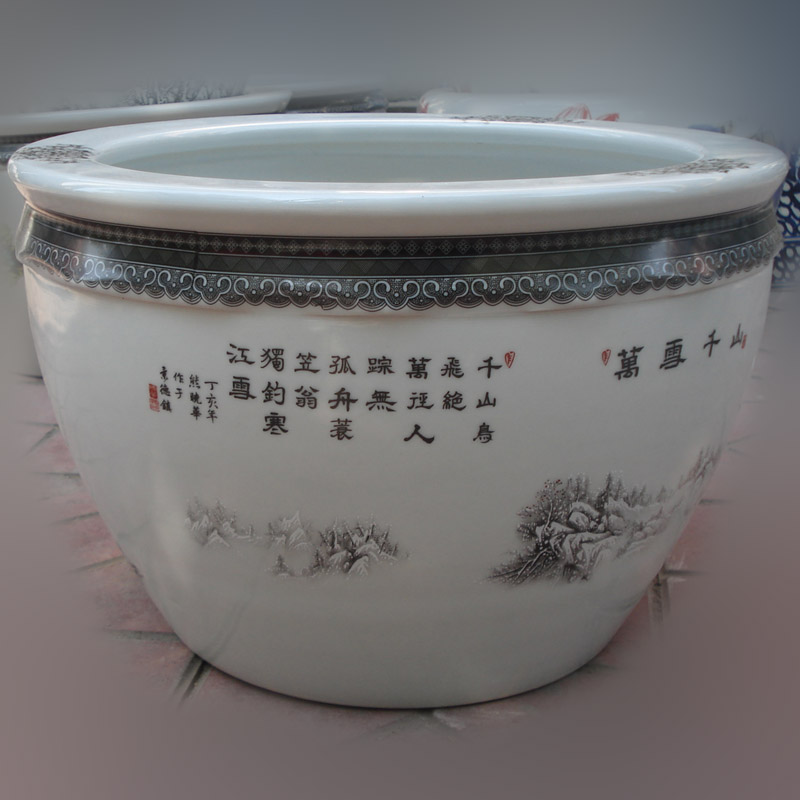 Jingdezhen snow porcelain flower porcelain porcelain cylinder cylinder small display the loaded cylinder that occupy the home