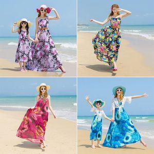 海边度假沙滩裙女夏胖mm显瘦泰国吊带雪纺连衣裙大码波西米亚长裙