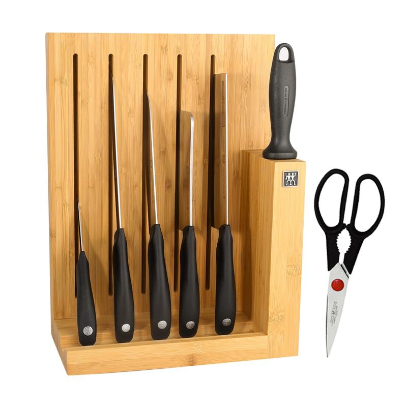 德国双立人Style步步高升厨房刀具8件套装不锈钢家用切菜刀面包刀