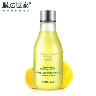 膜法世家蜂蜜柚子蜜汁200g 春季补水保湿滋养润肤提亮肤色柔肤水