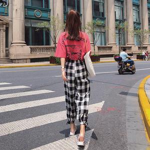 2018初秋新款女装韩版短袖T恤显瘦上衣束脚休闲裤F5182