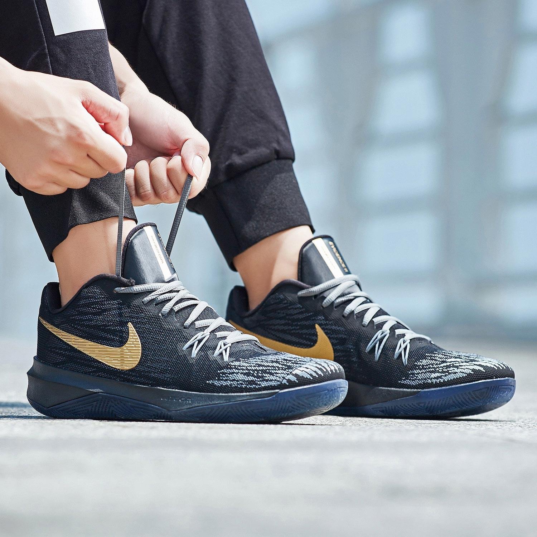 Nike耐克篮球鞋科比黑曼巴精神4 毒液6低帮运动鞋欧文4简版篮球鞋