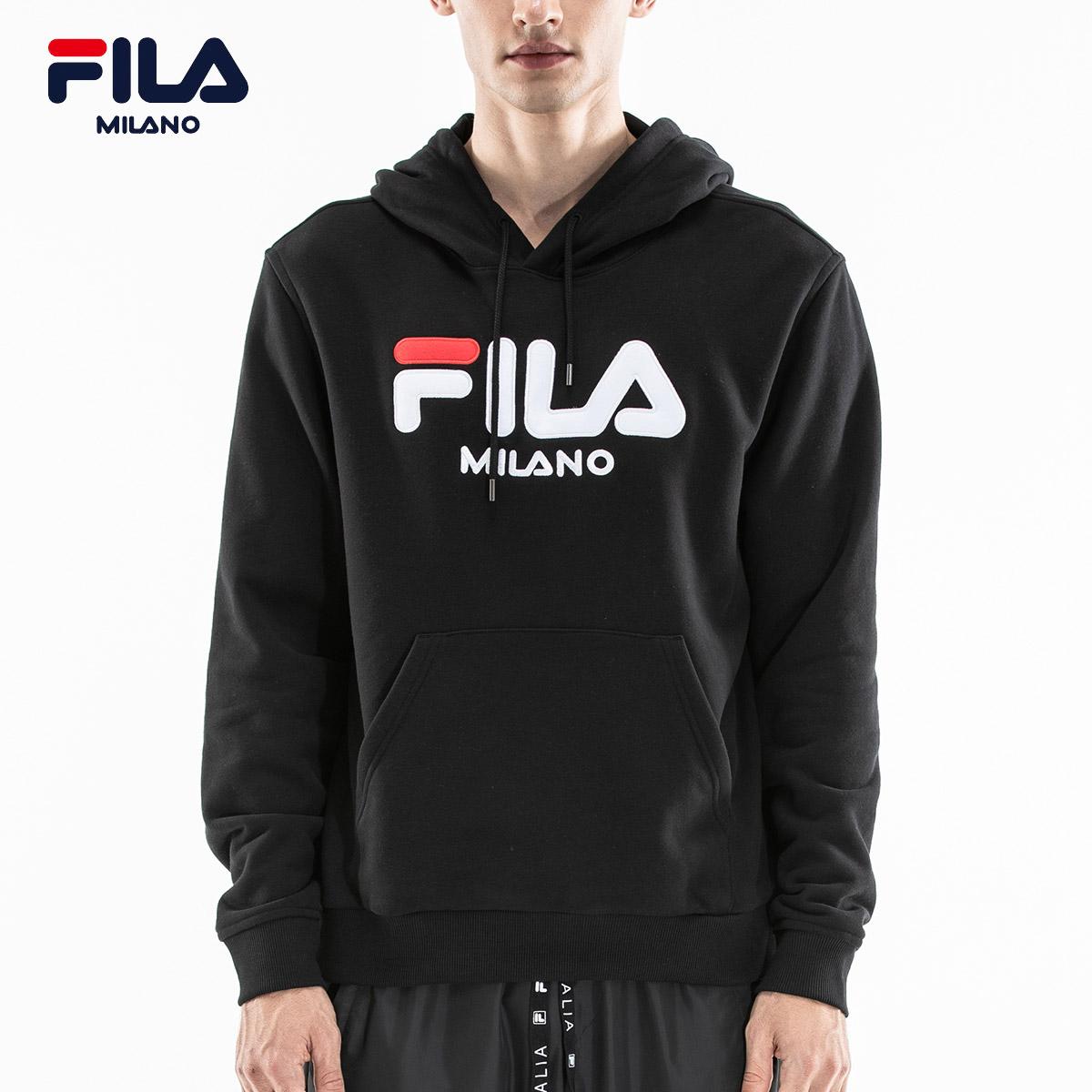 FILA米兰时装周ICONIC系列SNBN限定款 男子针织连帽卫衣