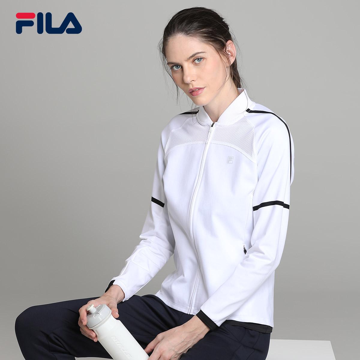 FILA斐乐女外套2018秋季新品休闲针织立领健身运动外套女