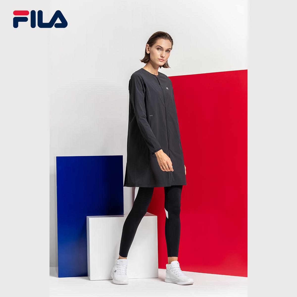 FILA斐乐RED系列女外套2018秋季新款时尚休闲运动梭织圆领上衣女