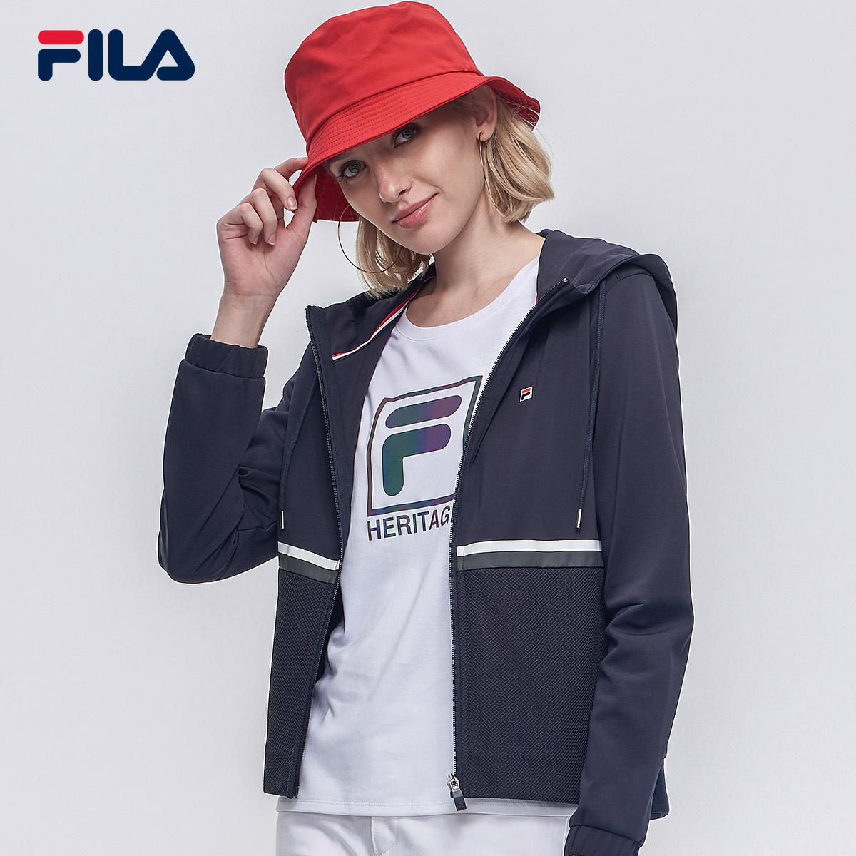 FILA斐乐女外套2018秋季新款休闲运动透气舒适时尚外套女