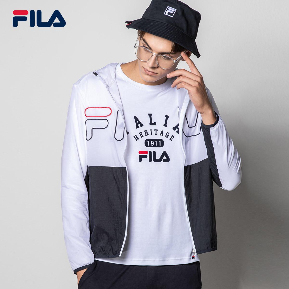 FILA斐乐男外套2018秋季新款时尚街头潮范运动休闲连帽舒适外套男