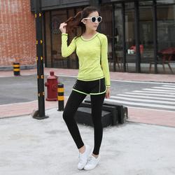 瑜伽服运动套装女 春夏健身房瑜伽健身服三件套 健身跑步运动套装