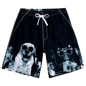 佑游夏季泰国海边度假沙滩裤男速干五分裤狗狗印花短裤宽松泳裤潮