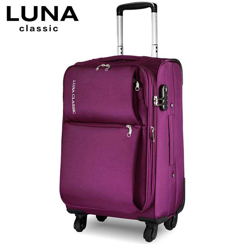 卢纳 拉杆箱万向轮登机箱包行李箱女男牛津布旅行箱20寸24寸28寸
