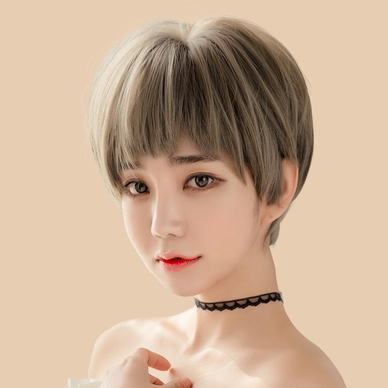 尚青丝 狗啃式二次元刘海假发女短发自然逼真蓬松奶奶图片