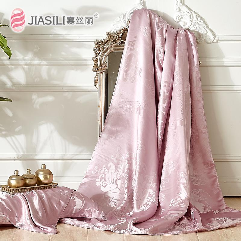 嘉丝丽重磅婚庆真丝提花丝绸被套100桑蚕丝床上用品被罩
