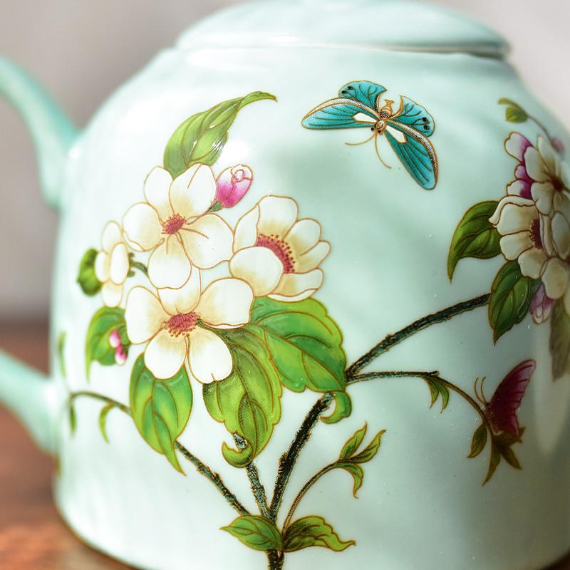 美式客廳茶幾擺件創意骨瓷茶具套裝新中式餐桌擺設喬遷新居禮品