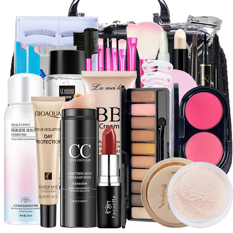 化妆品彩妆套装正品全套组合初学者新手少女学生淡妆一整套盒美妆