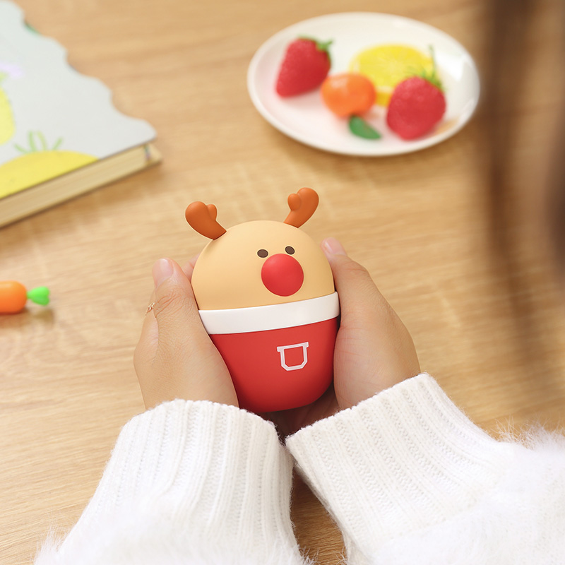 New rechargeable hot water bottle hand warmer baby girl Meng Meng cute explosion-proof portable mini electric treasure