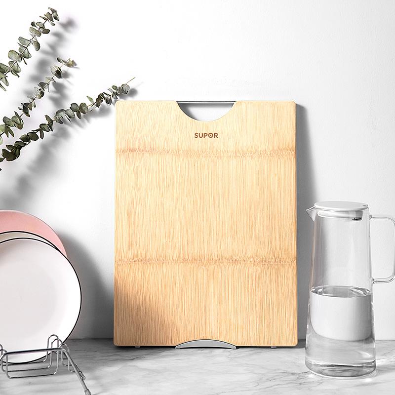 苏泊尔实木切菜板家用砧板案板厨房和面板竹占板抗菌防霉刀板粘板