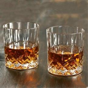 家用六只装水晶玻璃白兰地杯威士忌烈酒杯洋酒杯果汁杯啤酒杯冰粒