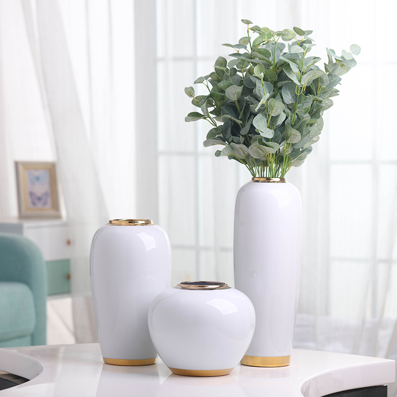 American ceramic vases, table light key-2 luxury furnishing articles wind the sitting room porch TV ark, European modern household soft adornment
