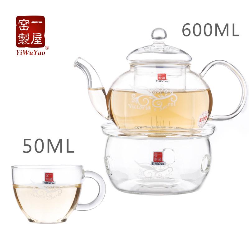一屋窑花草茶具加热玻璃花茶壶FH-202F/5MB-1