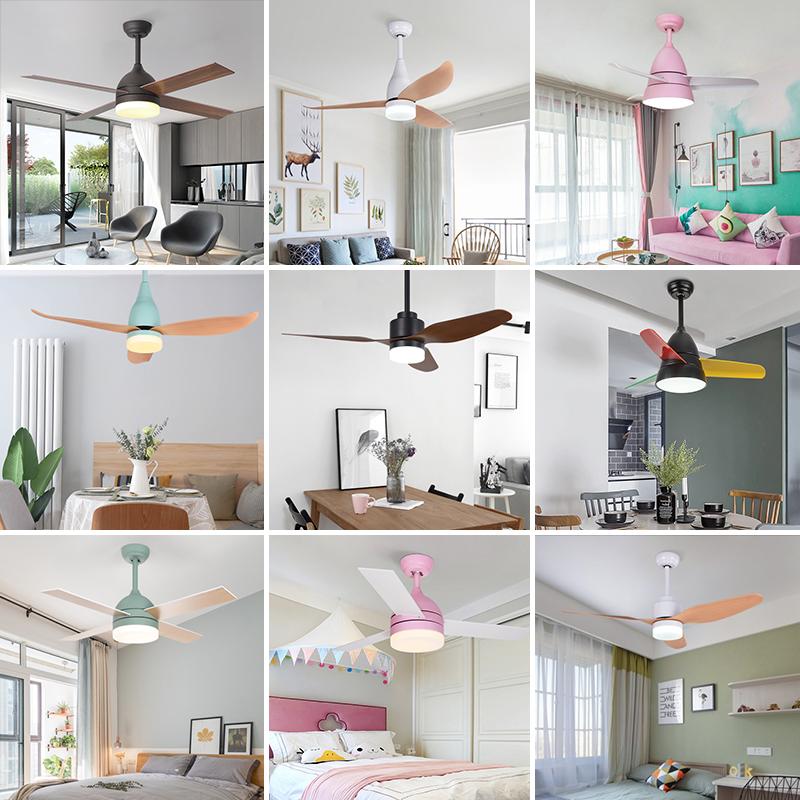 北欧新款餐厅吊扇灯现代简约卧室风扇灯客厅家用带电风扇的吊灯
