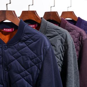 北极绒中老年人开衫保暖内衣套装男士加绒加厚大码妈妈老人女冬季