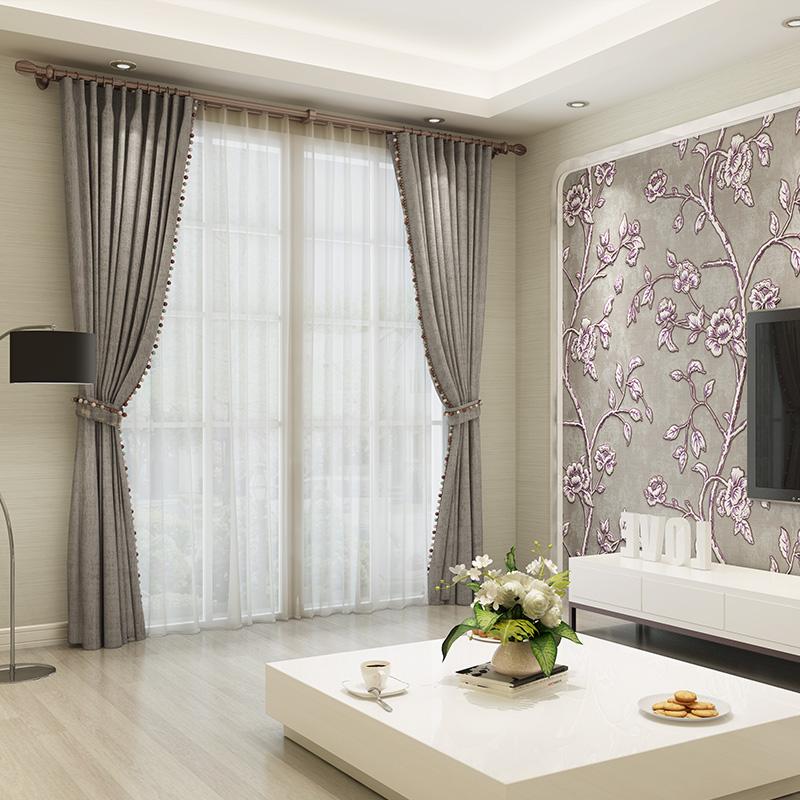 定制客厅卧室飘窗遮光遮阳欧式简约现代落地窗雅颜