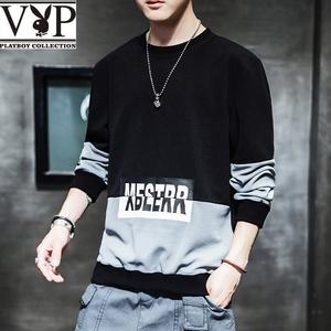 花花公子贵宾2019秋冬韩版男士两件套休闲套头卫衣外套青少年衣服