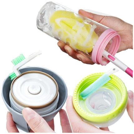 信义新款奶瓶茶杯玻璃杯杯刷杯盖杯子缝隙清洁刷五件套包邮