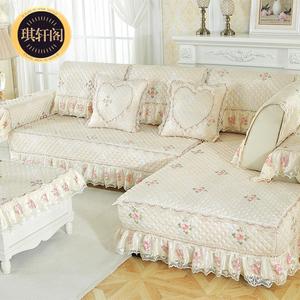 沙发坐垫四季简约通用型全包万能套罩巾现代客厅全盖布艺123组合