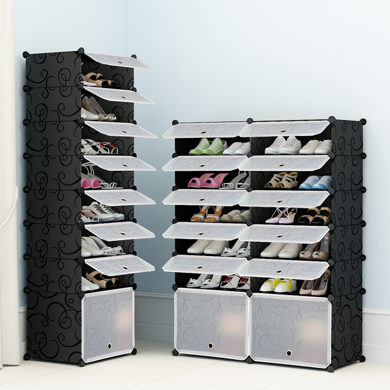 simple shoe cabinet economical dustproof multilayer assembly home plastic modern simple small shoe rack storage solid