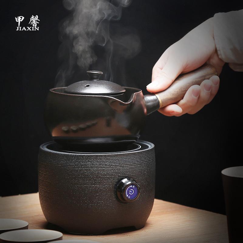 甲馨 煮茶器陶瓷电热陶炉煮茶炉茶具套装煮茶壶现代黑茶温茶器