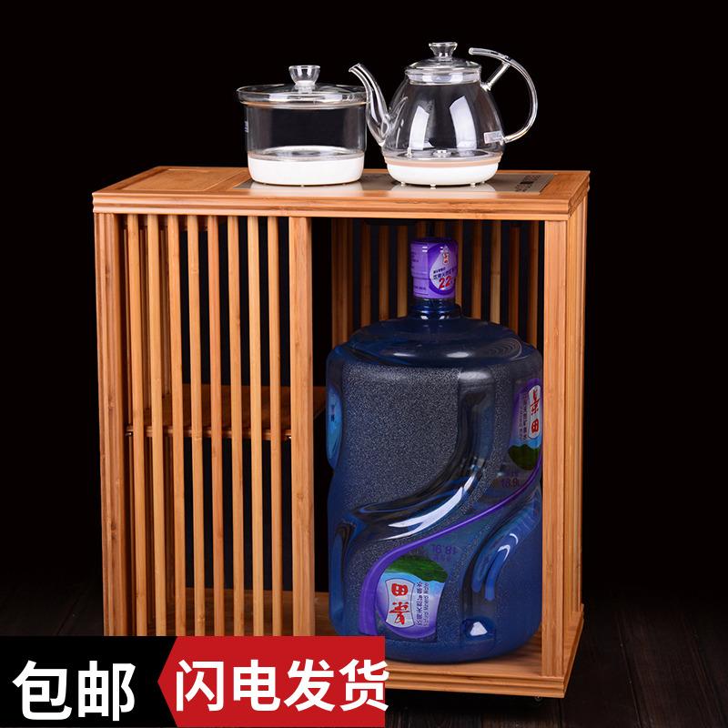 大号桶装水茶柜移动茶车小茶桌茶台茶水柜家用电磁炉茶水车泡茶柜