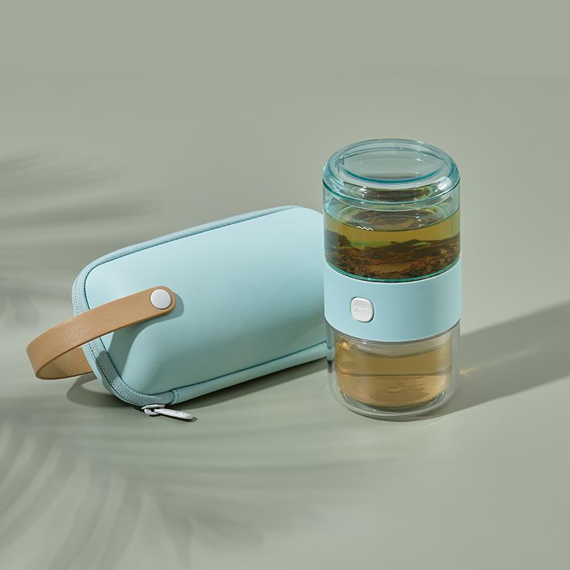 哲品Tritan版派杯出差旅行便携式茶具套装单人飘逸杯茶具整套家居