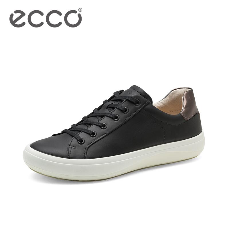 ECCO爱步2018新款秋季男鞋 时尚撞色拼接休闲板鞋男 新意431044